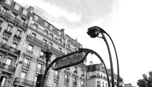 Metropolitan metro Parijs