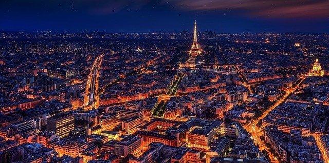 Winternacht in parijs